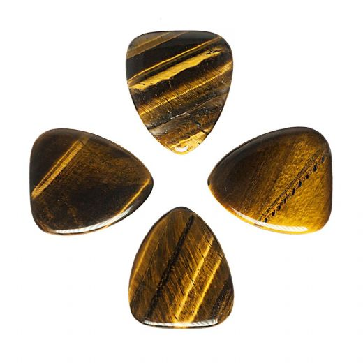 Tiger Tones Gold Tiger Eye 4 Guitar Picks